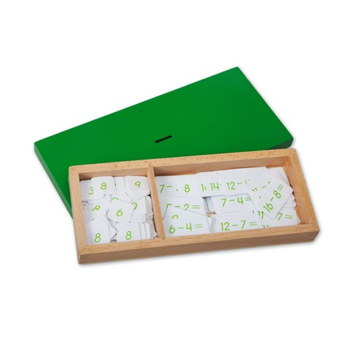 Montessori Subtraction Equations and Differences Box