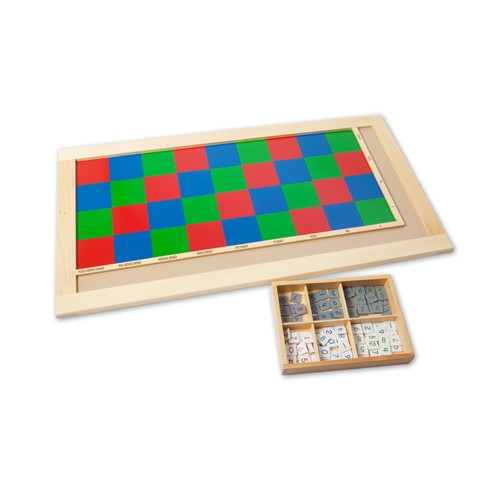 Montessori Multiplication Checker Board and tiles