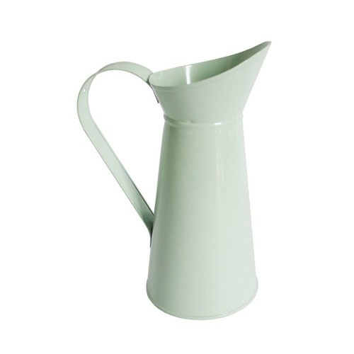 Pale Green Child-sized Metal Jug