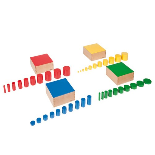 Nienhuis Montessori Set Of Knobless Cylinders