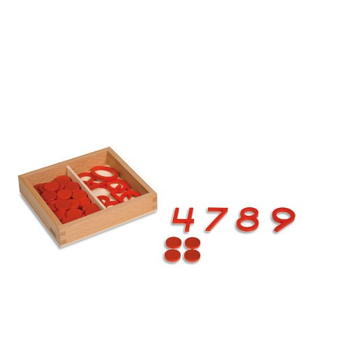 Nienhuis Montessori Cut-Out Numerals And Counters, US Print