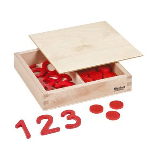 Nienhuis Montessori Cut-Out Numerals And Counters: International Version