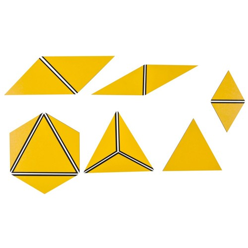Nienhuis Montessori Spares Set of Yellow Constructive Triangles