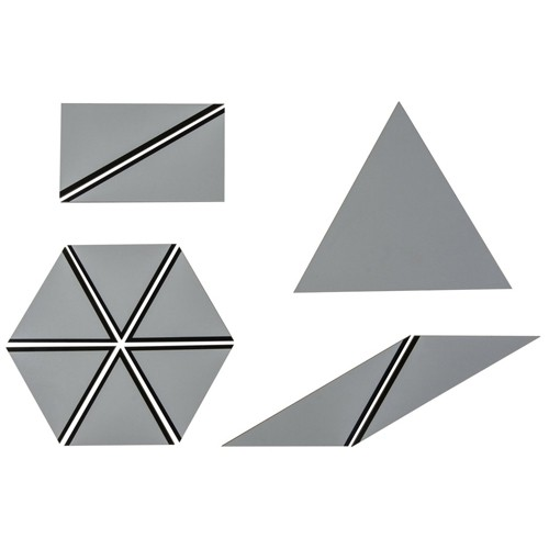 Nienhuis Montessori Spares Set of Grey Constructive Triangles