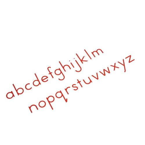 Nienhuis Montessori Small Movable Alphabet, US Print, Red