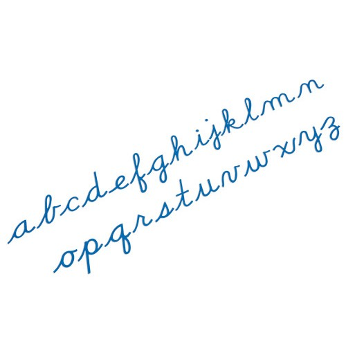 Nienhuis Montessori Medium Movable Alphabet, Cursive, Blue