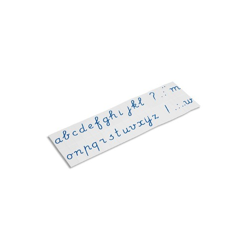 Nienhuis Montessori Printed Alphabet: International Cursive - Blue