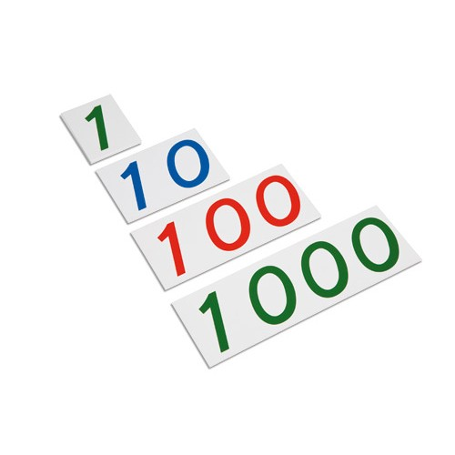 Nienhuis Montessori Large Number Cards 1-1000, Plastic
