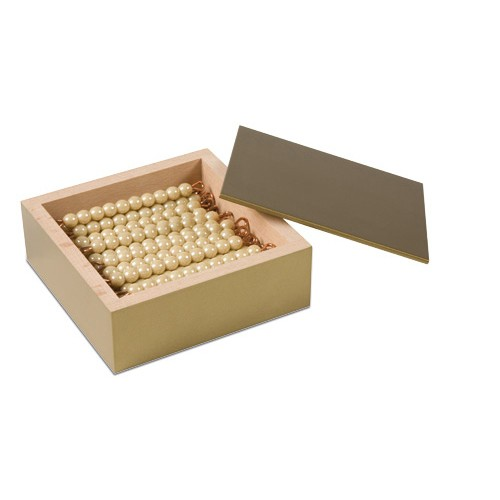 Nienhuis Montessori 45 Golden Bars Of 10 W.Box, Glass Beads