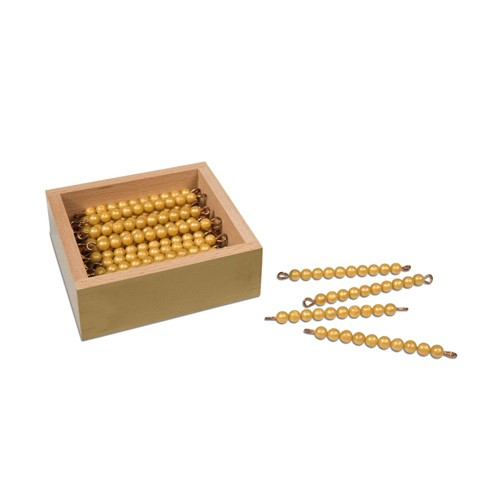 Nienhuis Montessori 45 Golden Bars Of 10 W.Box, Ind.Beads Ny
