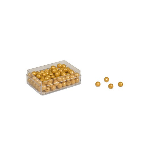 Nienhuis Montessori 100 Golden Bead Units - Individual Beads Nylon (with hole)