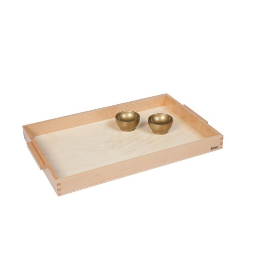 Nienhuis Montessori Wooden Tray With 2 Unit Cups