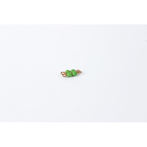 Nienhuis Montessori Spares Individual Glass Bead Square Of 2: Green