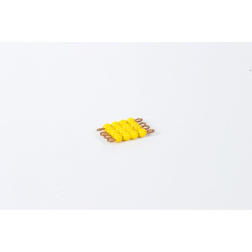 Nienhuis Montessori Spares Individual Glass Bead Square Of 4: Yellow