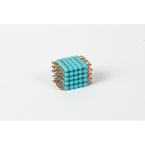 Nienhuis Montessori Spares Individual Glass Bead Cube Of 5: Light Blue