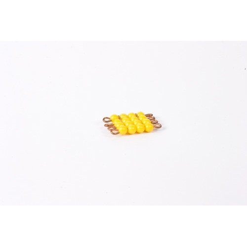 Nienhuis Montessori Spares Individual Nylon Bead Square Of 4: Yellow