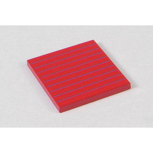 Nienhuis Montessori Spares Hierarchy Of Numbers: Red Tablet - 5 x 5 x 0.5