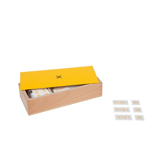 Nienhuis Montessori Box Of Multiplic. Equations And Products