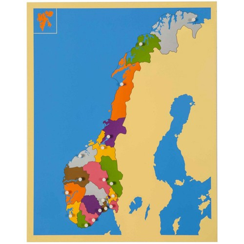 Nienhuis Montessori Puzzle Map: Norway