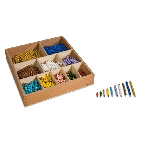 Nienhuis Montessori Decanomial Bead Bar Box, Indiv. Beads