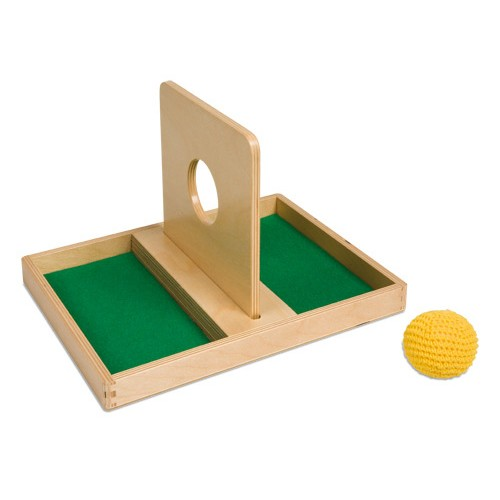 Nienhuis Montessori Imbucare Board With Knitted Ball