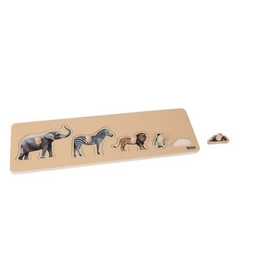 Nienhuis Toddler Puzzle: 5 Wild Animals (NL)