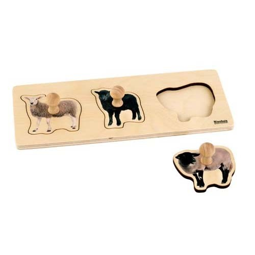 Nienhuis Toddler Puzzle: 3 Sheep