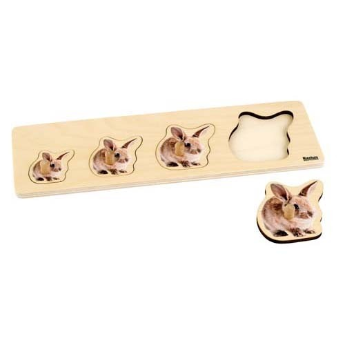 Nienhuis Toddler Puzzle: 4 Rabbits