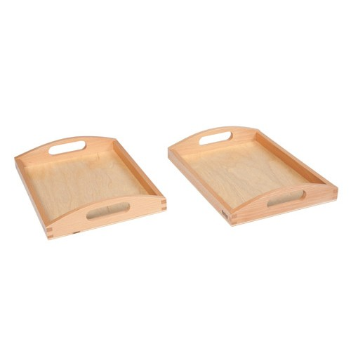 Nienhuis Montessori Wooden Tray Small, Set Of 2