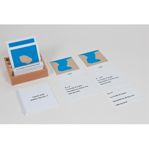 Nienhuis Montessori Land And Water Form Cards Set 1