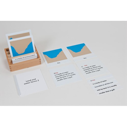 Nienhuis Montessori Land And Water Form Cards Set 2