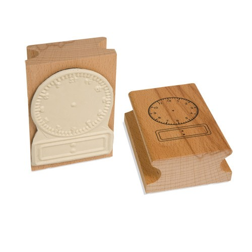 Nienhuis Montessori Clock Stamp: 12 Hour Digital