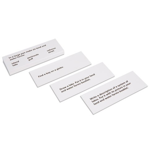 Nienhuis Montessori Land And Water Forms Command Cards 1