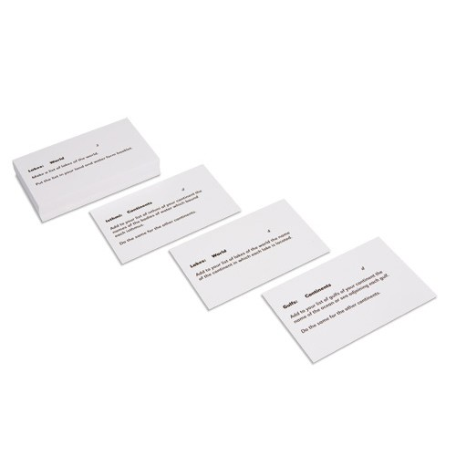 Nienhuis Montessori Land And Water Forms Command Cards 2