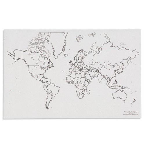 Nienhuis Montessori Csm, Paper Maps World Political with Lakes