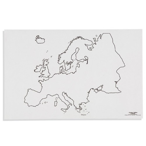 Nienhuis Montessori Csm, Paper Maps Europe, Outline