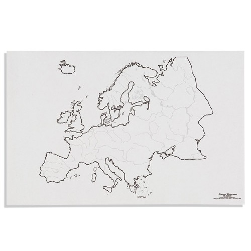 Nienhuis Montessori Csm, Paper Maps Europe, Waterways