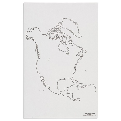 Nienhuis Montessori Csm, Paper Maps North America, Outline