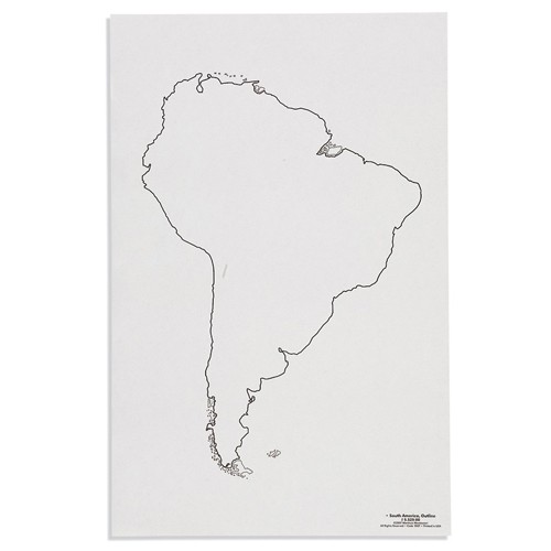Nienhuis Montessori Csm, Paper Maps South America, Outline