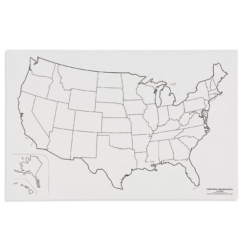 Nienhuis Montessori Csm, Paper Maps U.S., State Boundaries