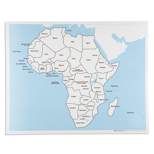 Nienhuis Montessori Csm, Africa Labeled Control Map
