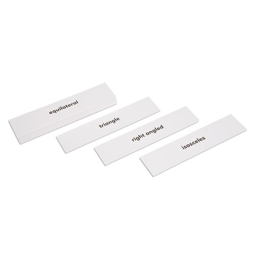 Nienhuis Montessori Csm, Geometric Cabinet Triangle Labels