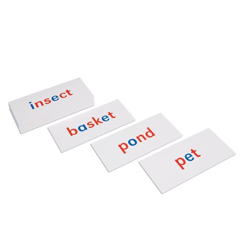 Nienhuis Montessori Csm, Phonetic Flash Cards