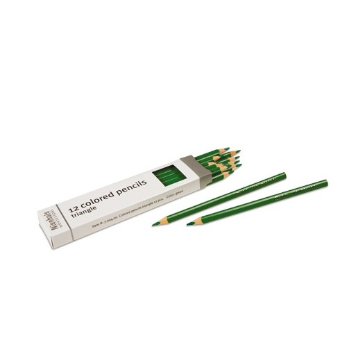 Nienhuis Montessori Green Inset Pencils 12