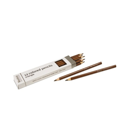 Nienhuis Montessori Brown Inset Pencils 12