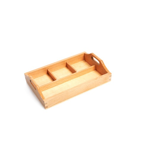 Montessori 3 Compartment Sorting Tray