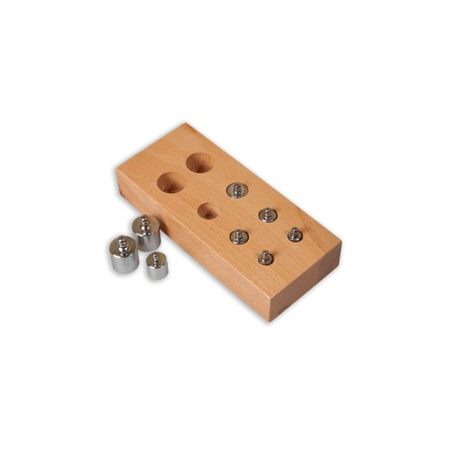 Montessori Metal mini weights for scales with stand