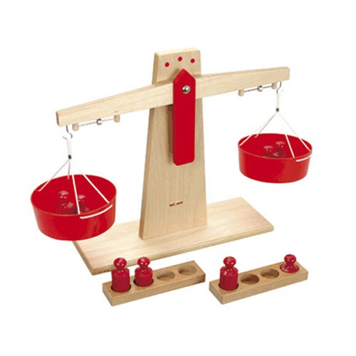 Montessori Wooden Scales without weights