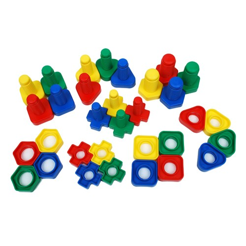 Montessori Plastic Nuts and Bolts Pack