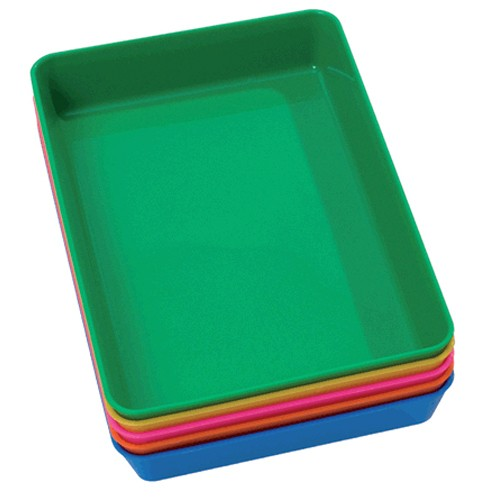 Montessori Set of 5 Small Coloured Trays